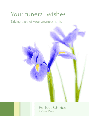 Funeral wishes form - Perfect Choice Funeral Plans