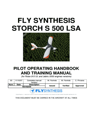 Fillable Online FLY SYNTHESIS STORCH S 500 LSA Fax Email
