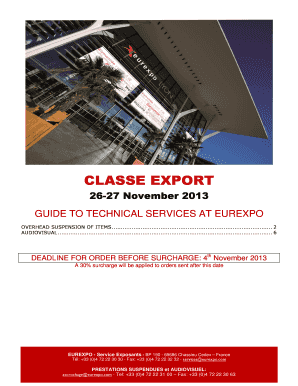 CLASSE EXPORT Technical guide 2013 - eurexpocom