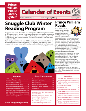 Prince William Public Library System Calendar of Events Volume 26, Number 2 www - pwcgov