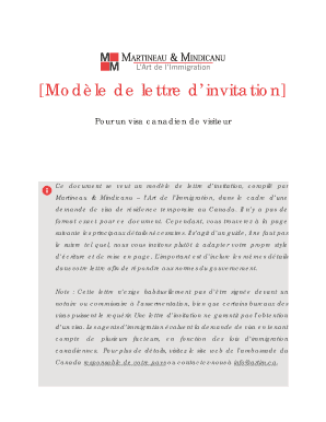 Fillable Online Elblog Artim Mod Le De Lettre D 39 Invitation El