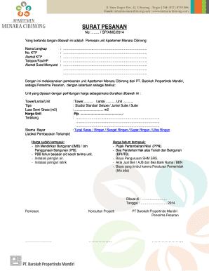 Contoh Surat Pemesanan Edit Online Fill Out Download