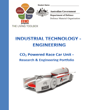 INDUSTRIAL TECHNOLOGY ENGINEERING F1inSCHOOLS Resource Folio