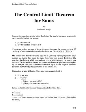 Fillable Online Voer Edu The Central Limit Theorem For Sums Bvoerb Voer Edu Fax Email Print Pdffiller