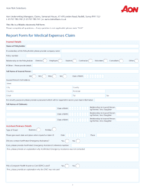free expense report form pdf