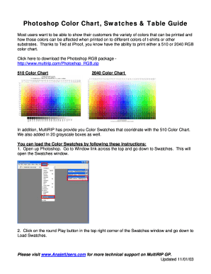 510 Color Chart 2040 Color Chart - MultiRIP