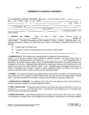 Commission agreement between broker and agent to download in word cbor commission co broker agreement v2pdfdoc platinumwayz