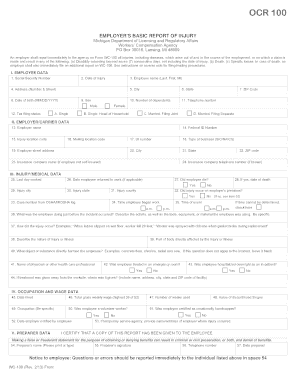 Post Accident Investigative Forms- Management, Employee, Witness and RTW log