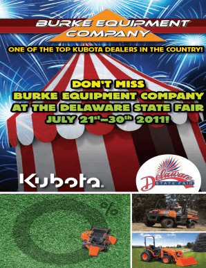 DONT MISS BURKE EQUIPMENT COMPANY AT THE DELAWARE STATE