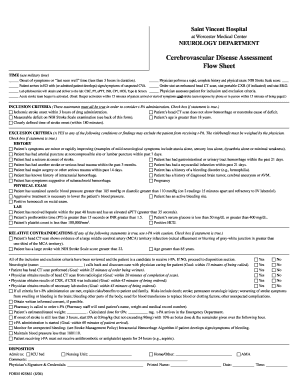 Cerebrovascular Disease Assessment Flow Sheet - SVHRAD.com