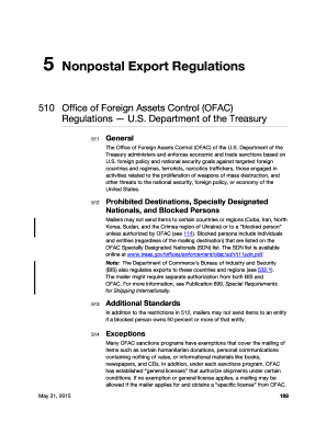 Fillable Online The Office of Foreign Assets Control (OFAC) of the ...