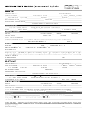 consumer credit application form edit print fill out download