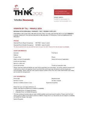 Fillable online lunch menu order form discovery child care fax hotel registration form taj vivanta thinkworks altavistaventures Images