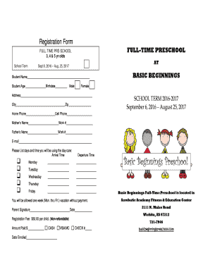 Preschool Weekly Newsletter Template