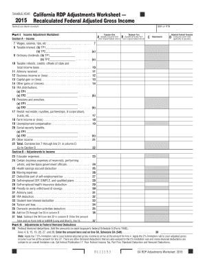 California form 540 instructions 2015 - Edit, Fill, Print ...