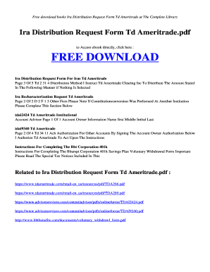 td ameritrade ira - Fill Out Online, Download Printable