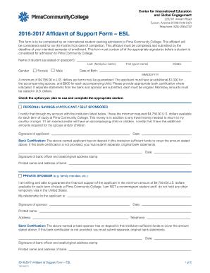 Form i-134 affidavit of support 2017 - Editable, Fillable ...