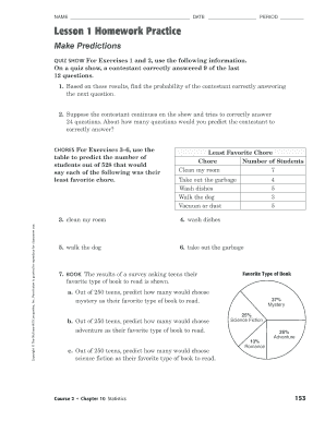 fillable online lesson 1 homework practice bweeblyb fax email
