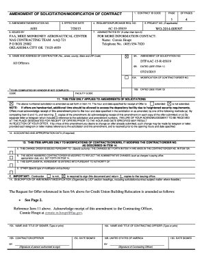 CONTRACT ID CODE PAGE OF PAGES 1 AMENDMENT OF SOLICITATION/MODIFICATION OF CONTRACT 4 5 - faaco faa
