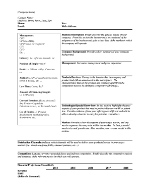Executive Summary template - Cooley LLP