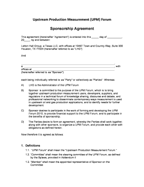 Printable agreement between subcontractor and sub subcontractor sponsorship agreement v4 upm forum yadclub Choice Image