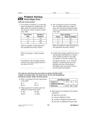 solving point slope form  Fillable Online solving point slope form Fax Email Print ...