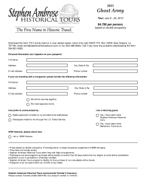 Printable Army trips - Fill Out & Download Top Rental Forms in PDF ...