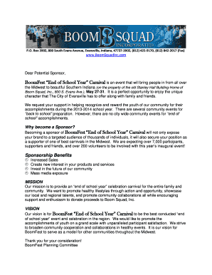 BoomFest Sponsorship Packet - Boom Squad Inc
