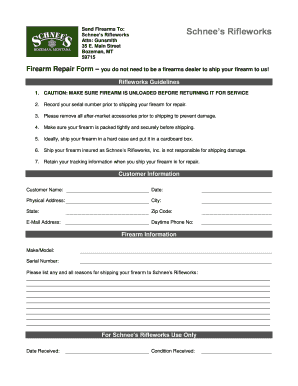 Employee Referral Form | Fillable Online Employee Referral Form Schnees Rifleworks Fax Email