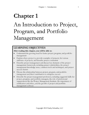 An Introduction to Project Program and Portfolio Management