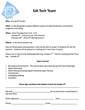 Fillable Online SJA Tech Team Form Fax Email Print - PDFfiller