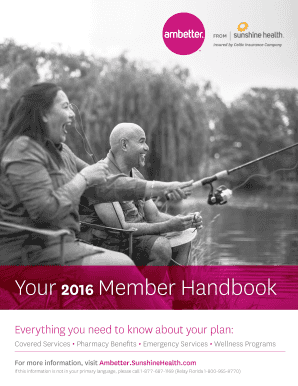 Fillable Online Member Handbook 2016 Florida Services And