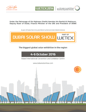 4-6 October 2016 - Dubai Solar Show