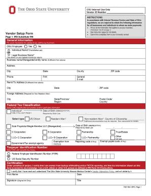 ohio university tax exempt form