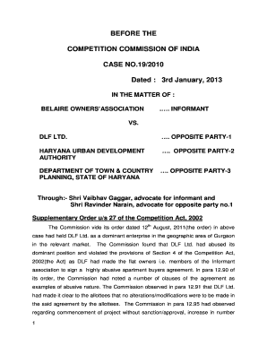 BEFORE THE COMPETITION COMMISSION OF INDIA CASE NO192010
