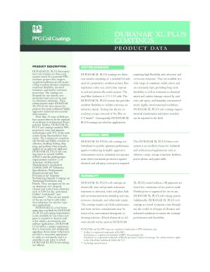 Fillable Online Duranar xl plus coatings - PPG IdeaScapes