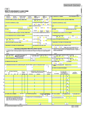 Printable health insurance claim form 1500 download - Edit, Fill ...