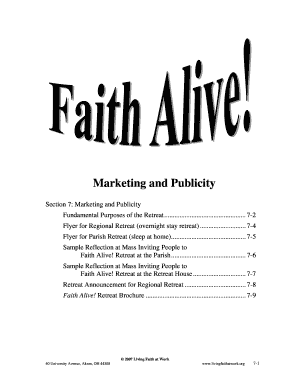 Marketing and Publicity - Living Faith at Work