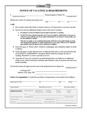 Notice To Vacate Unauthorized Occupant Fill Out Print Download