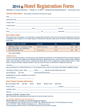Registration form sample fill out print download online forms 2014 hotel registration form forms sample forms altavistaventures Image collections