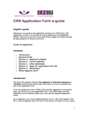 crb application form - Edit, Fill, Print & Download Best