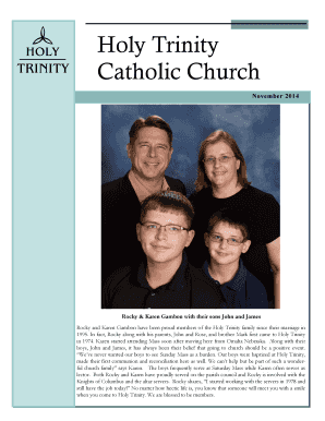 Holy Trinity Calendar December 2014 - Holy Trinity Catholic Church