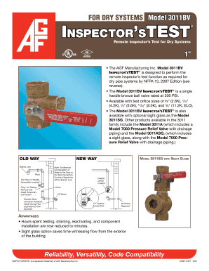 Model 3011BV Inspector stest - AGF Manufacturing Inc