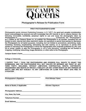 Printable print release form for photographers - Fill Out