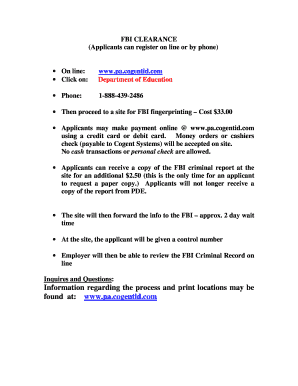 Fillable Online wilkinsburgschools FBI Clearance Request Form ...