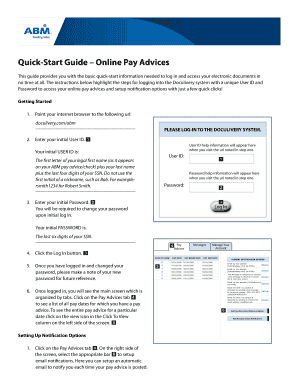www doculivery com abm login Quick Start Guide Online Pay Advices - Fill Online, Printable ...