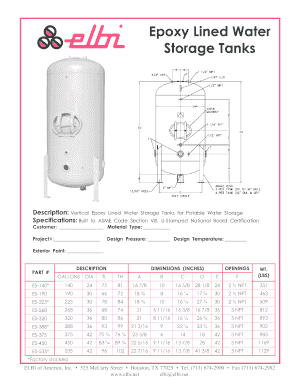 Fillable Online elbi Epoxy Lined Water Storage Tanks - bElbib of