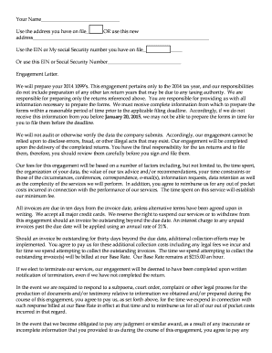 Letter of engagement for services Edit Fill Out Print