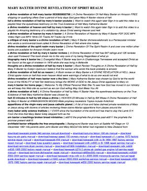 Mary k baxter divine revelation of hell pdf