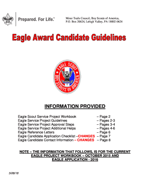 BEagleb Award Candidate Guidelines - Minsi Trails Council - minsitrails
